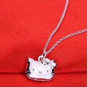 🔆3/$30 New Silver Hello Kitty Locket Necklace